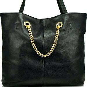 Sondra Roberts Genuine Leather Tote